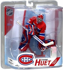 McFarlane Toys NHL Sports Picks Series 16 Action Figure Cristobal Huet (Montreal Canadiens) Red Jersey