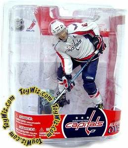 McFarlane Toys NHL Sports Picks Series 17 Action Figure Alexander Ovechkin (Washington Capitals) White Jersey Variant