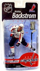McFarlane Toys NHL Sports Picks Series 25 U.S. Exclusive Action Figure Nicklas Backstrom (Washington Capitals) White Jersey Silver Collector Level Chase Only 1,000 Made!