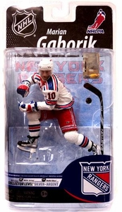 McFarlane Toys NHL Sports Picks Series 25 U.S. Exclusive Action Figure Marian Gaborik (New York Rangers) White Jersey Silver Collector Level Chase Only 1,000 Made!