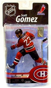 McFarlane Toys NHL Sports Picks Series 25 Canada Exclusive Action Figure Scott Gomez (New Jersey Devils) Gold Collector Level Chase Only 500 Made!