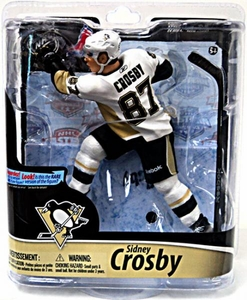 McFarlane Toys NHL Sports Picks Series 28 Action Figure Sidney Crosby (Pittsburgh Penguins) White Jersey Bronze Collector Level Chase Only 2,500 Made!