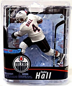 McFarlane Toys NHL Sports Picks Series 28 Action Figure Taylor Hall (Edmonton Oilers) White Jersey Silver Collector Level Chase Only 1,000 Made!