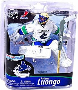 McFarlane Toys NHL Sports Picks Series 28 Action Figure Roberto Luongo (Vancouver Canucks) White Jersey