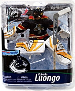 McFarlane Toys NHL Sports Picks Series 28 Action Figure Roberto Luongo (Florida Panthers) Blue Panthers Jersey Gold Collector Level Chase Only 450 Made!