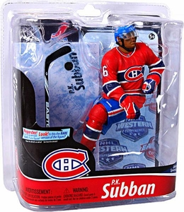 McFarlane Toys NHL Sports Picks Series 28 Action Figure P.K. Subban (Montreal Canadiens) Red Jersey