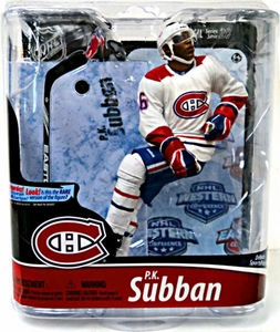 McFarlane Toys NHL Sports Picks Series 28 Action Figure P.K. Subban (Montreal Canadiens) White Jersey Bronze Collector Level Chase Only 3,000 Made!