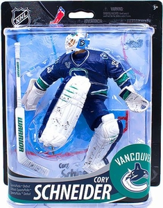 McFarlane Toys NHL Sports Picks Series 33 Action Figure Cory Schneider (Vancouver Canucks) Logo Emblem Collector Level Only 1,000 Made!