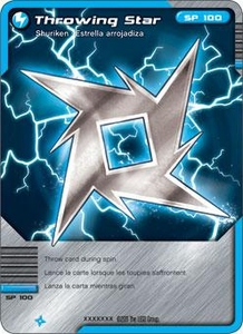 LEGO Ninjago Single Card 34/81 Throwing Stars