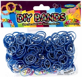 D.I.Y. Do it Yourself Bracelet Bands 300 Two-Tone Blue & White Rubber Bands with Hook Tool & Buckles