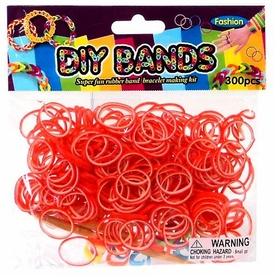D.I.Y. Do it Yourself Bracelet Bands 300 Two-Tone Orange & White Rubber Bands with Hook Tool & Buckles