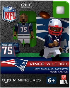 OYO Football NFL Building Brick Minifigure Vince Wilfork [New England Patriots]