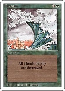 Magic the Gathering Revised Edition Single Card Uncommon Tsunami