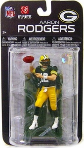 McFarlane Toys NFL 3 Inch Sports Picks Series 7 Mini Action Figure Aaron Rodgers (Green Bay Packers)