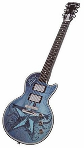 Paper Jamz Instant Rock Star Series 1 Guitar Blue with Nautical Star {Rock 1}