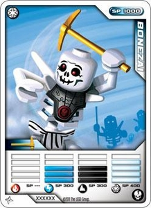 LEGO Ninjago Single Card 9/81 Bonezai