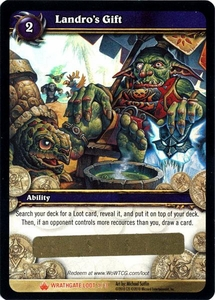 World of Warcraft Card Game Wrathgate Single Card Legendary Loot #1 Landro's Gift