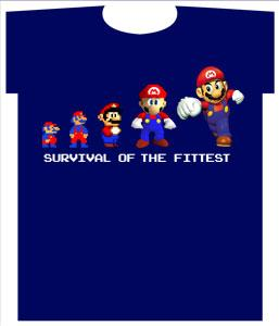 Nintendo Super Mario Youth T-Shirt Survival Of The Fittest