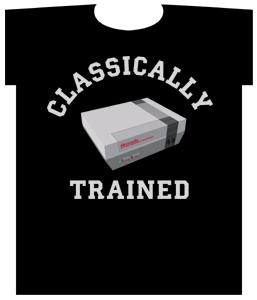 Nintendo Adult T-Shirt Classically Trained