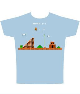 Nintendo Adult T-Shirt Super Mario Castle
