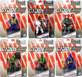 Hasbro GI Joe 2013 Basic Series 1 Set of 6 Action Figures [Cobra Commander, Storm Shadow, Snake Eyes, Duke, Cobra Trooper & Shipwreck]