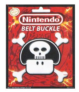 Nintendo Belt Buckle Super Mario Brothers Mushroom