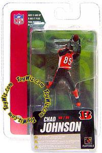 McFarlane Toys NFL 3 Inch Sports Picks Series 4 Mini Action Figure Chad Johnson [Ochocinco] (Cincinnati Bengals)