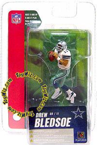 McFarlane Toys NFL 3 Inch Sports Picks Series 4 Mini Action Figure Drew Bledsoe (Dallas Cowboys)