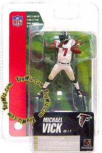 McFarlane Toys NFL 3 Inch Sports Picks Series 4 Mini Action Figure Michael Vick (Atlanta Falcons)