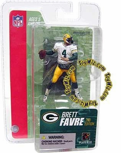 McFarlane Toys NFL 3 Inch Sports Picks Series 3 Mini Action Figure Brett Favre (Green Bay Packers) White Jersey