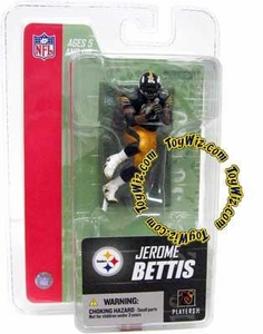 McFarlane Toys NFL 3 Inch Sports Picks Series 3 Mini Action Figure Jerome Bettis (Pittsburgh Steelers)