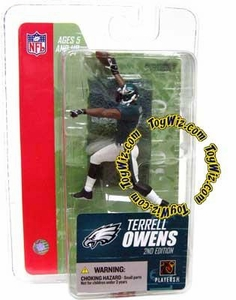 McFarlane Toys NFL 3 Inch Sports Picks Series 3 Mini Action Figure Terrell Owens (Philadelphia Eagles)