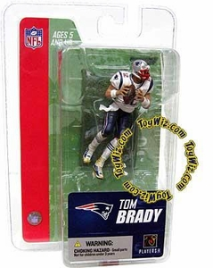McFarlane Toys NFL 3 Inch Sports Picks Series 3 Mini Action Figure Tom Brady (New England Patriots)