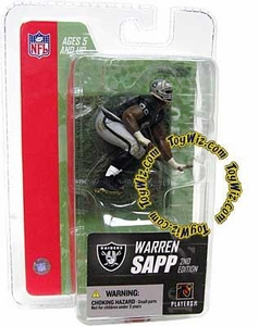 McFarlane Toys NFL 3 Inch Sports Picks Series 3 Mini Action Figure Warren Sapp (Oakland Raiders)