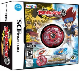 EXCLUSIVE Nintendo DS BEYBLADE Metal Fusion Game with RED CYBER PEGASUS 100HF INCLUDED!
