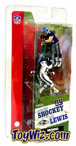 McFarlane Toys NFL 3 Inch Sports Picks Series 1 Mini Figure 2-Pack Jeremy Shockey (New York Giants) & Ray Lewis (Baltimore Ravens)