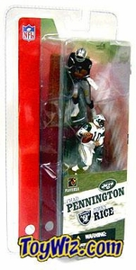 McFarlane Toys NFL 3 Inch Sports Picks Series 1 Mini Figure 2-Pack Jerry Rice (Oakland Raiders) & Chad Pennington (New York Jets)