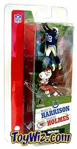 McFarlane Toys NFL 3 Inch Sports Picks Series 1 Mini Figure 2-Pack Marvin Harrison (Indianapolis Colts) & Priest Holmes (Kansas City Chiefs)