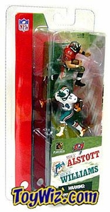 McFarlane Toys NFL 3 Inch Sports Picks Series 1 Mini Figure 2-Pack Mike Alstott (Tampa Bay Buccaneers) & Ricky Williams (Miami Dolphins)