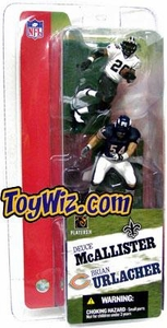 McFarlane Toys NFL 3 Inch Sports Picks Series 2 Mini Figure 2-Pack Brian Urlacher (Chicago Bears) & Deuce McAllister (New Orleans Saints)