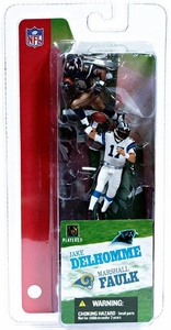 McFarlane Toys NFL 3 Inch Sports Picks Series 2 Mini Figure 2-Pack Jake Delhomme (Carolina Panthers) & Marshall Faulk (St. Louis Rams)