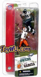 McFarlane Toys NFL 3 Inch Sports Picks Series 2 Mini Figure 2-Pack Jeff Garcia (Cleveland Browns) & Terrell Owens (Philadelphia Eagles)