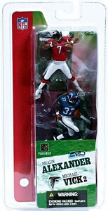 McFarlane Toys NFL 3 Inch Sports Picks Series 2 Mini Figure 2-Pack Michael Vick (Atlanta Falcons) & Shaun Alexander (Seattle Seahawks)