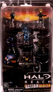 Halo Reach ActionClix Trading Miniature Figure Game 6-Pack Noble Team