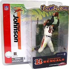 McFarlane Toys NFL Sports Picks Series 9 Action Figure Chad Ochocinco Johnson (Cincinnati Bengals) White Jersey