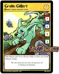 Neopets Hannah and Ice Caves Uncommon Single Card #58 Green Gelert