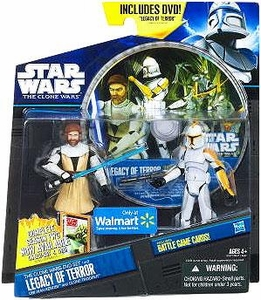 Star Wars 2012 Clone Wars Action Figure 2-Pack Obi-Wan & Clone Trooper with