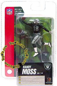 McFarlane Toys NFL 3 Inch Sports Picks Series 4 Mini Action Figure Randy Moss 2 (Oakland Raiders)