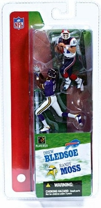McFarlane Toys NFL 3 Inch Sports Picks Series 2 Mini Figure 2-Pack Randy Moss (Minnesota Vikings) & Drew Bledsoe (Buffalo Bills)