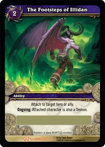 World of Warcraft Card Game Hunt for Illidan Single Card Legendary Loot #1 The Footsteps of Illidan